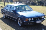 BMW 7 (E23) Compressed air spray