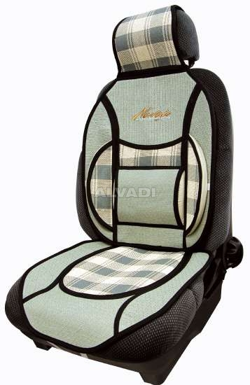 Car seat cover with a pillow under the back universal