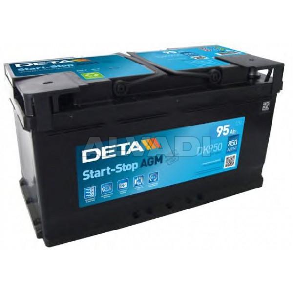 AKU AGM 95AH 850A DETA START-STOP 353X175X190 -/+ DK950