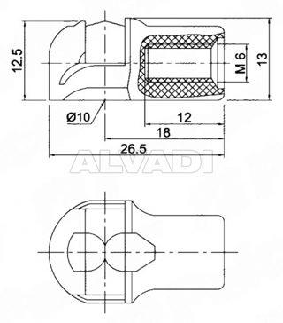 Motorhjælm/bagagerum støddemper spids